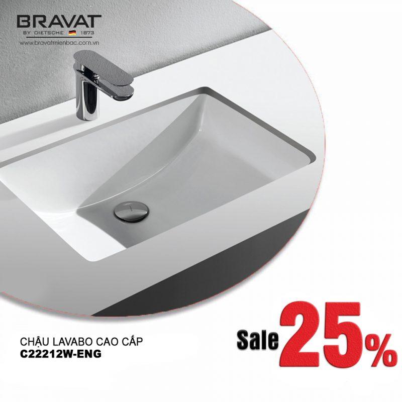 Chậu rửa cao cấp Bravat từ CHLB Đức khuyến mãi lên đến 25% trong tháng 6